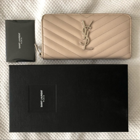 4db47ec44f YSL 'Monogram' Quilted Calfskin Leather Wallet